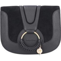 Handtasche Hana Kalbsleder Logo schwarz Chloé