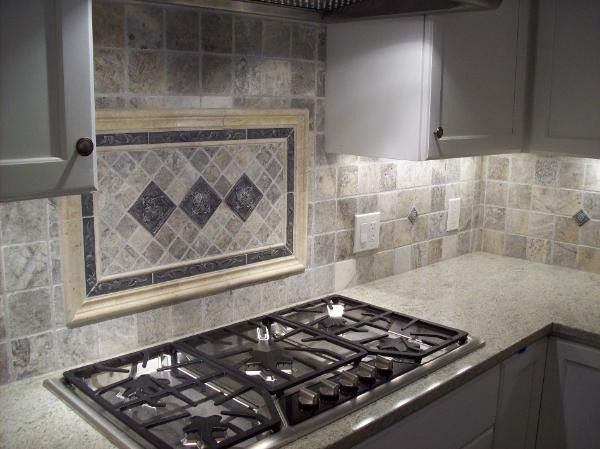 Silver Travertine 4x4 Tile Kitchen Backsplash Designs Trendy