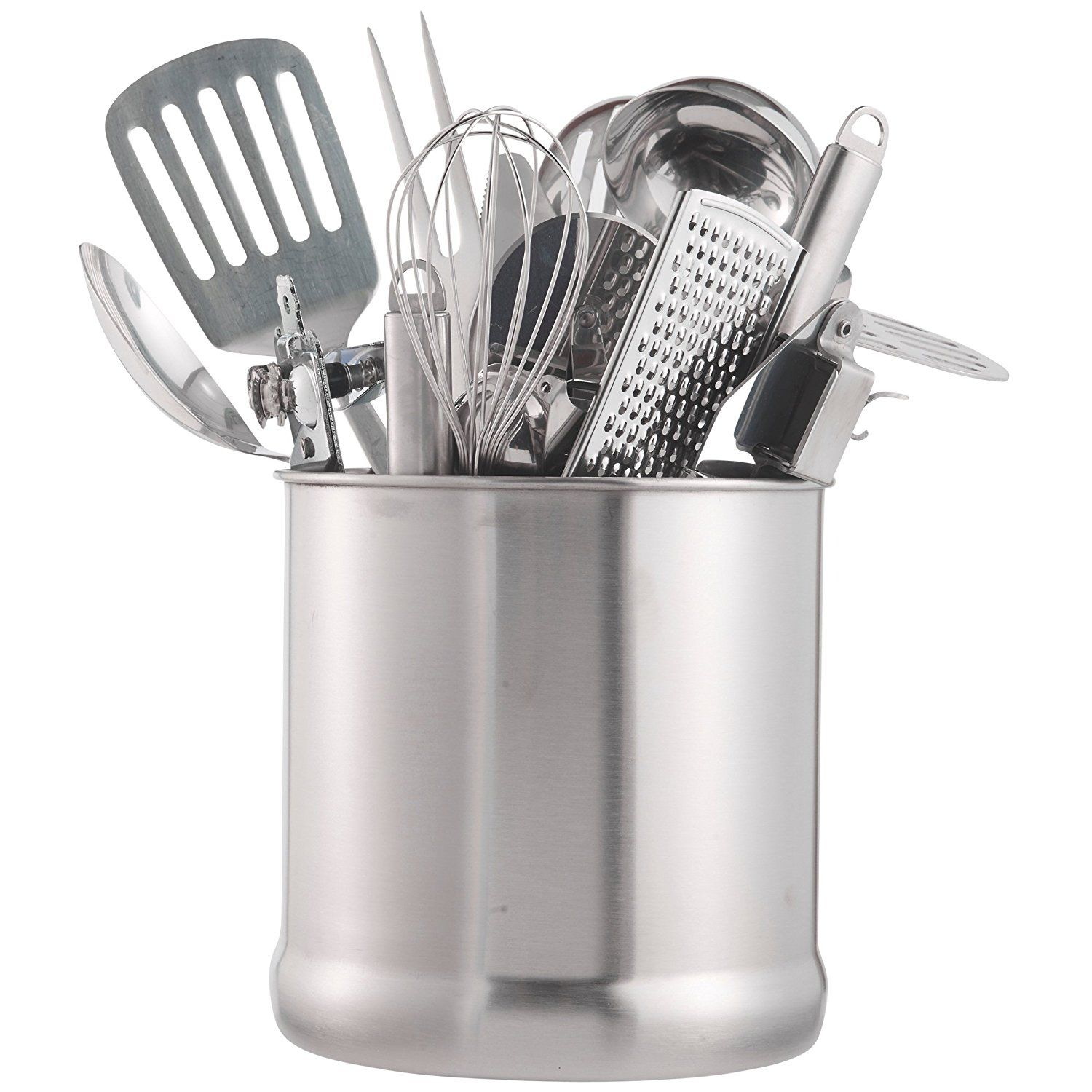 Kitchen Utensil Caddy Cooking Tools Holder Stainless Steel Cutlery Holder Kitchen Utensil Holder Pot
