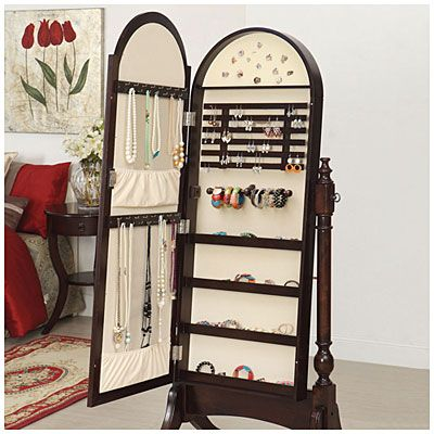 I need this so bad Cherry Cheval Mirror Jewelry Armoire at Big Lots