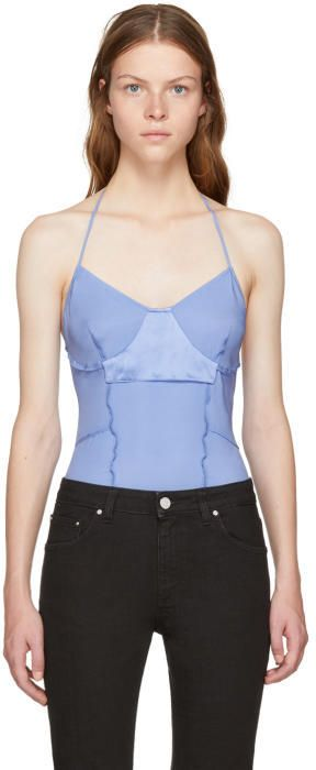 Pre Order For Sale Blue Silk Inside Out Bodysuit Wendelborn Pictures Sale Online Cheap For Nice WB0ewRrfu