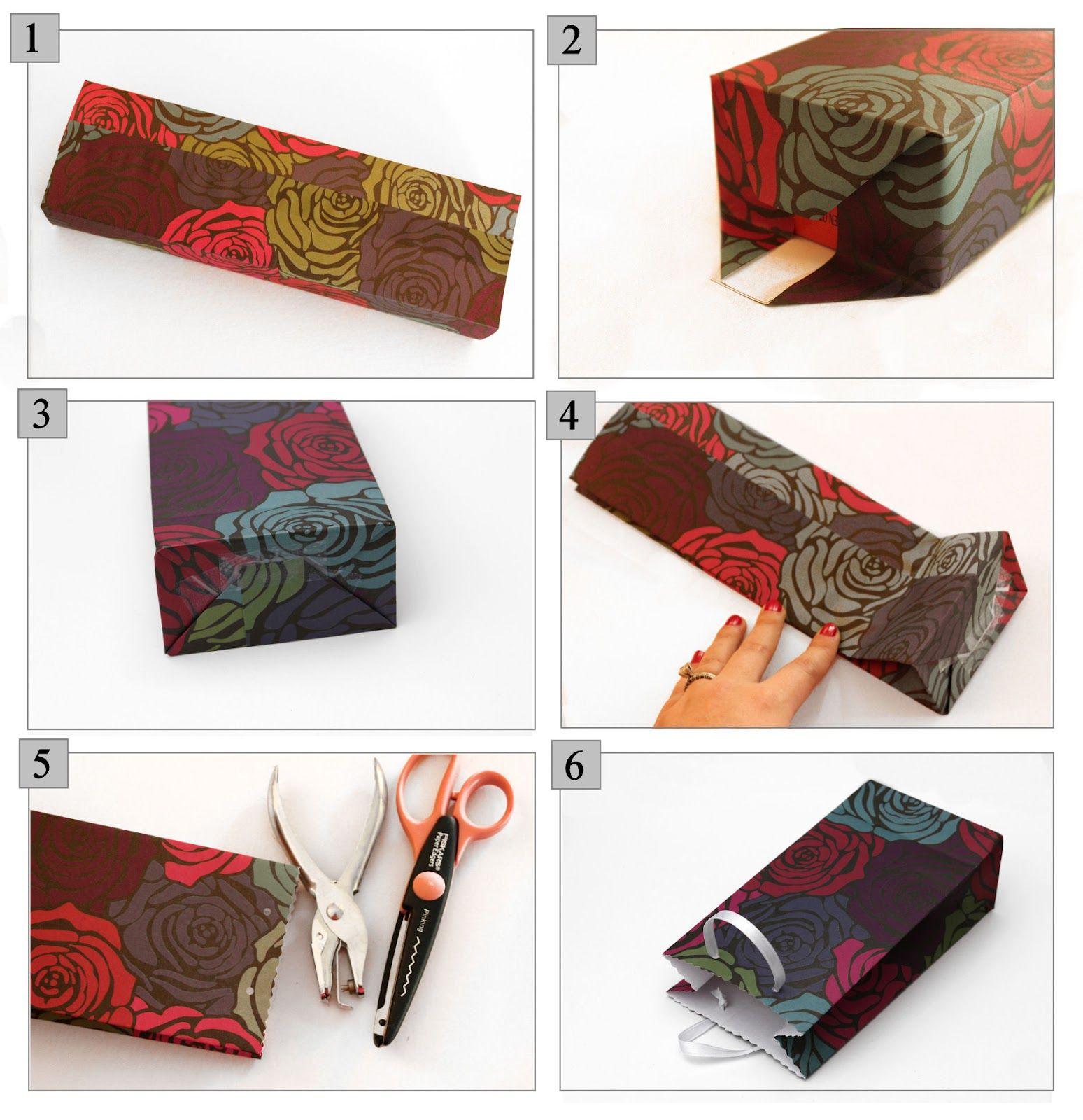 Scrapbook ideas tutorial - Gift Bags