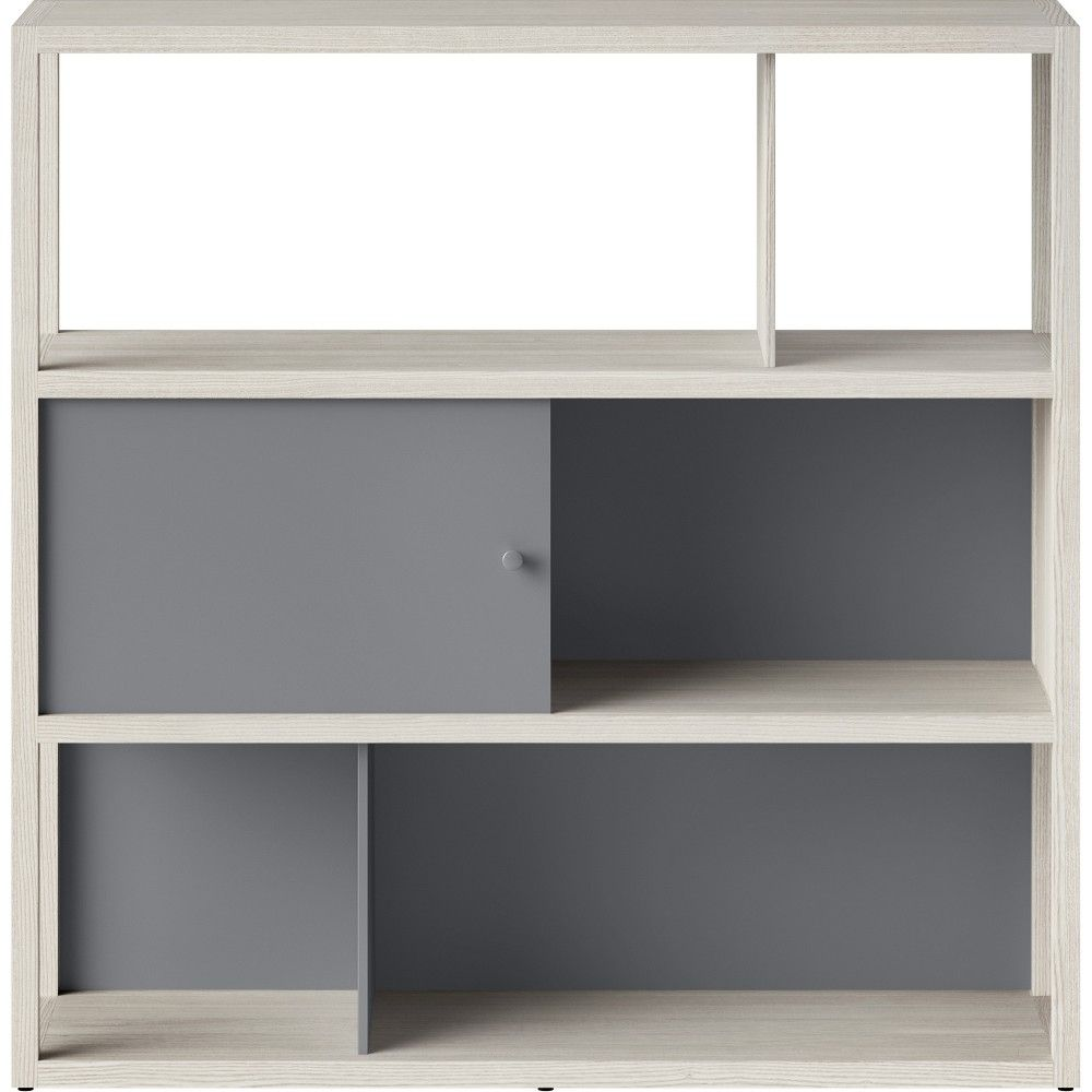 49 8 Quot Siebert 3 Shelf Horizontal Bookcase White Project 62 Beige Products Horizontal