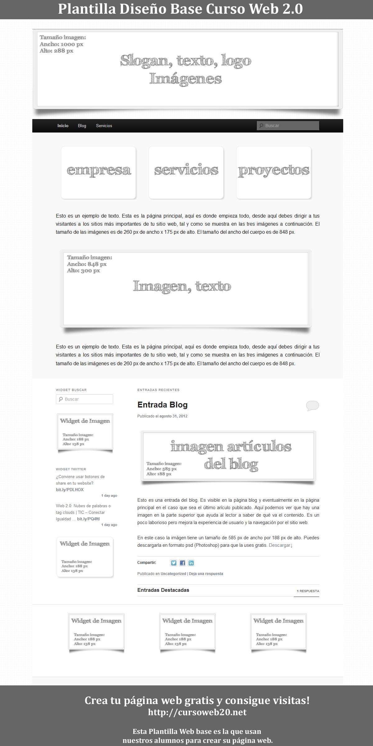 Plantilla Web Base para hacer tu web gratis sin conocimientos ...