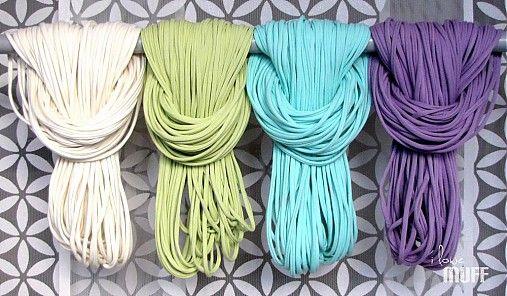 pastel spaghetti scarf