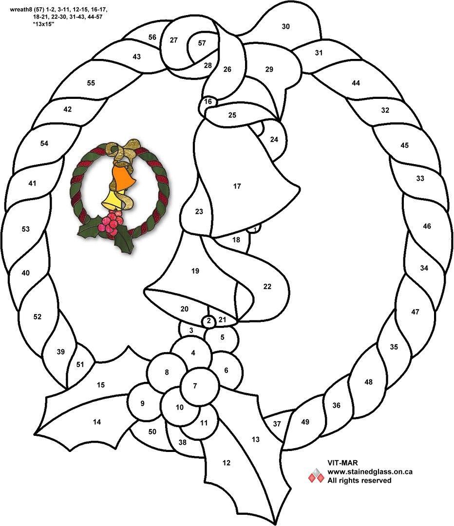 Wreath Free Pattern Glasmalerei Weihnachten Glasmalerei Weihnachtsmalvorlagen