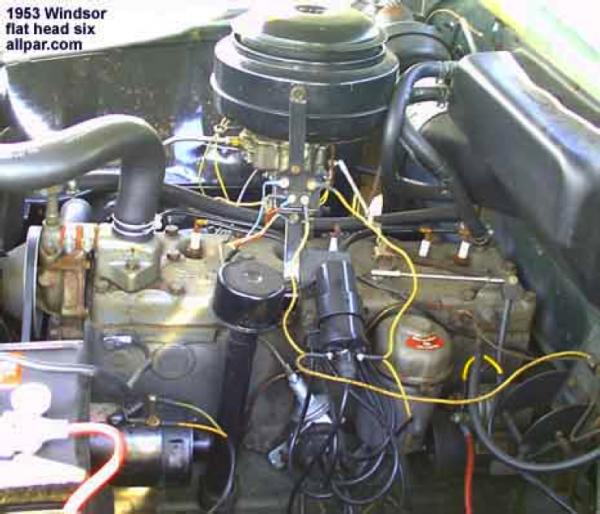 1953 chrysler windsor six cylinder flat head engine mopar muscle rh pinterest com 1953 chrysler windsor fuse panel location 1953 chrysler windsor hubcaps