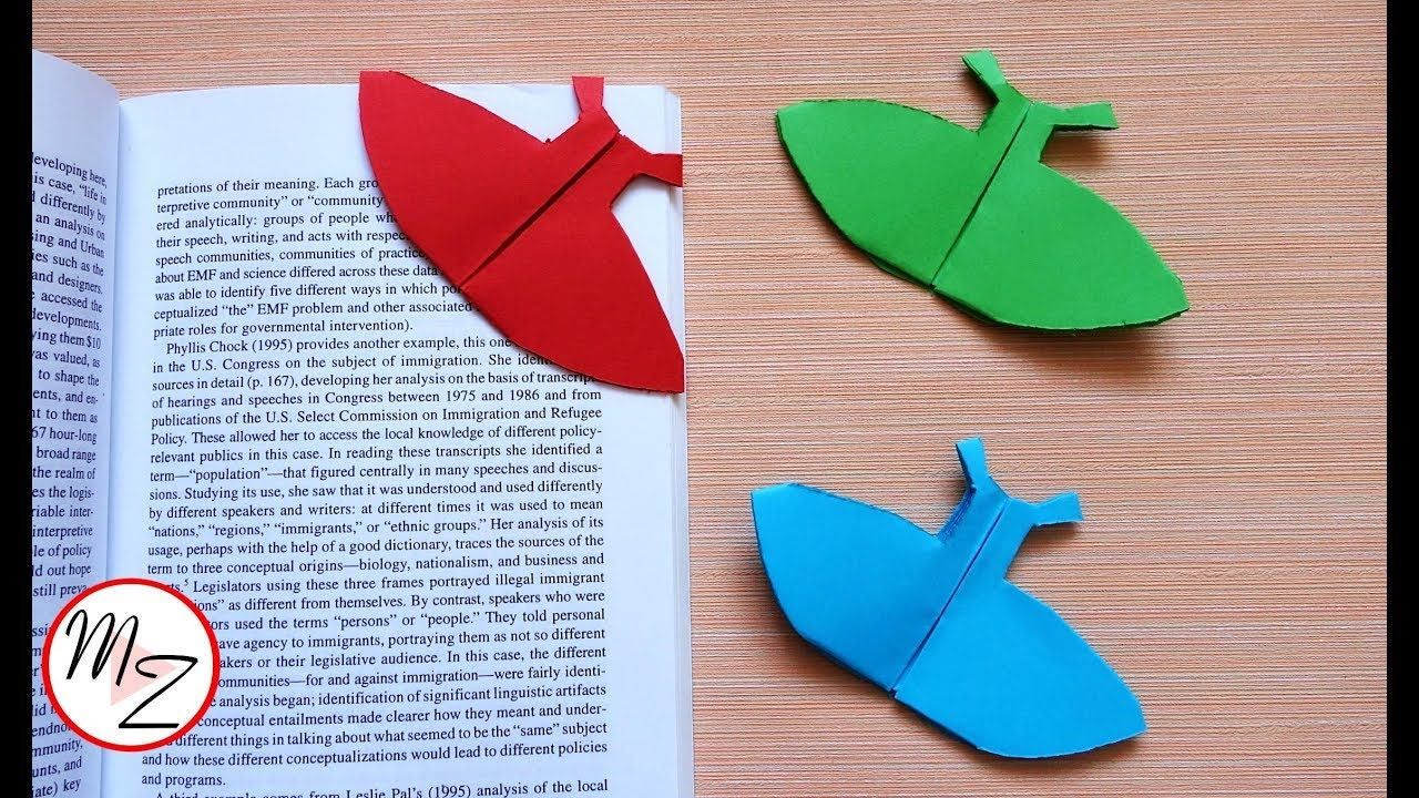 how to make bookmarks : dress bookmark diy | bookmark ideas with