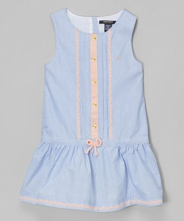 Look at this #zulilyfind! Classic Blue Stripe Drop-Waist Dress - Infant, Toddler & Girls #zulilyfinds
