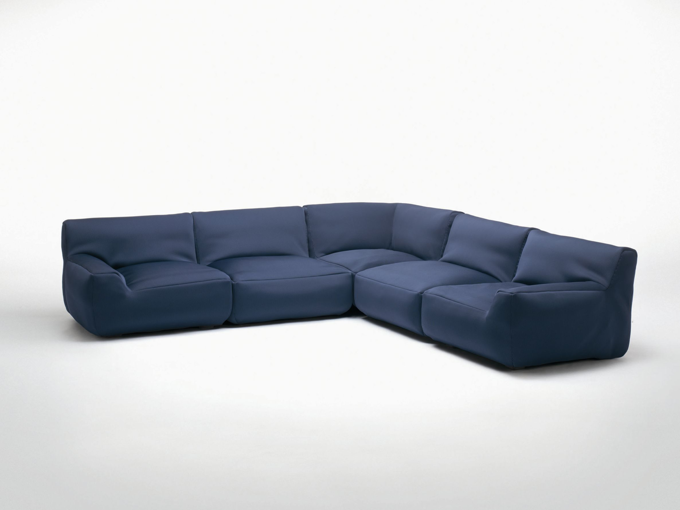 Sectional sofa with removable cover WEL E Corner sofa Aqua
