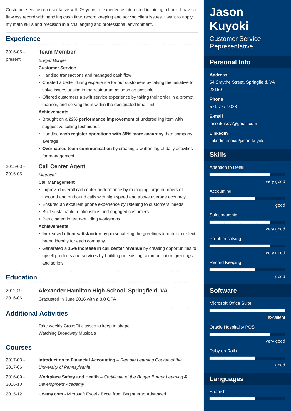 bank teller resume template enfold in 2020 Resume
