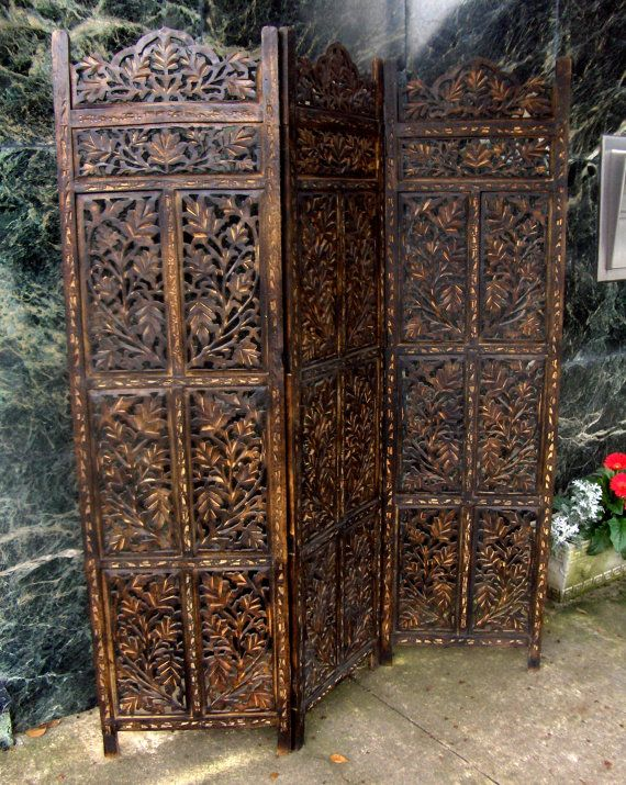 Carved Wood Folding Screen By Furnitologist In 2019 Room