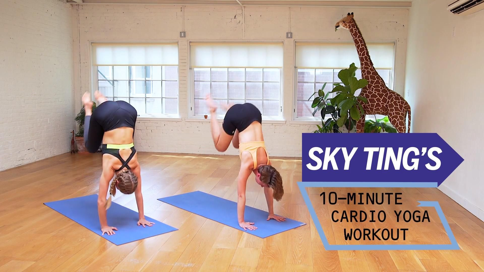 Sky Ting's Cardio Yoga Workout Will Give You The Stretch You Crave With the Sweat You Need #cardioyoga