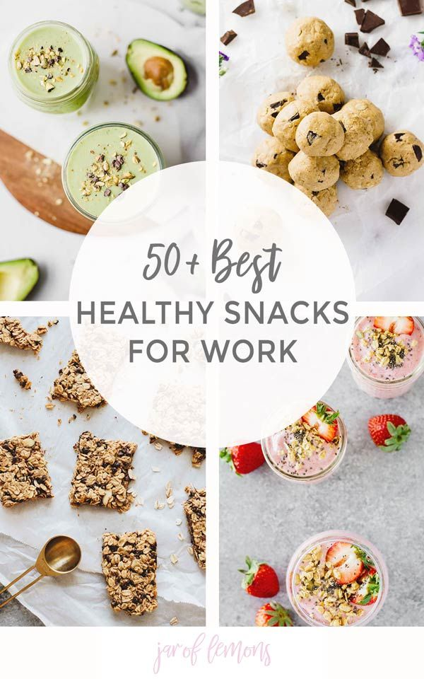 50+ BEST Healthy Snacks For Work images