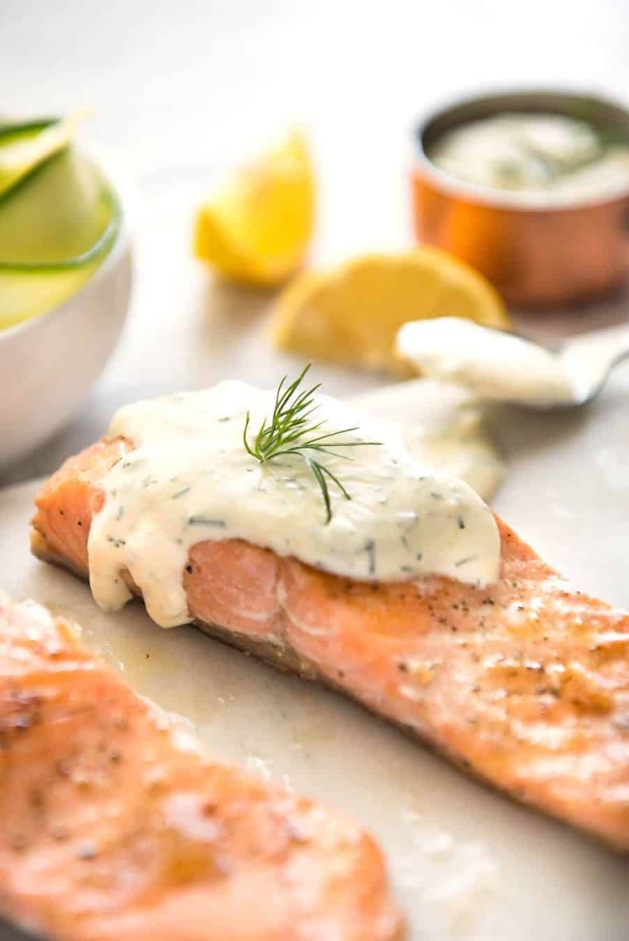 Creamy Dill Sauce For Salmon Or Trout Recipe Creamy Dill Sauce Dill Sauce For Salmon Dill Sauce