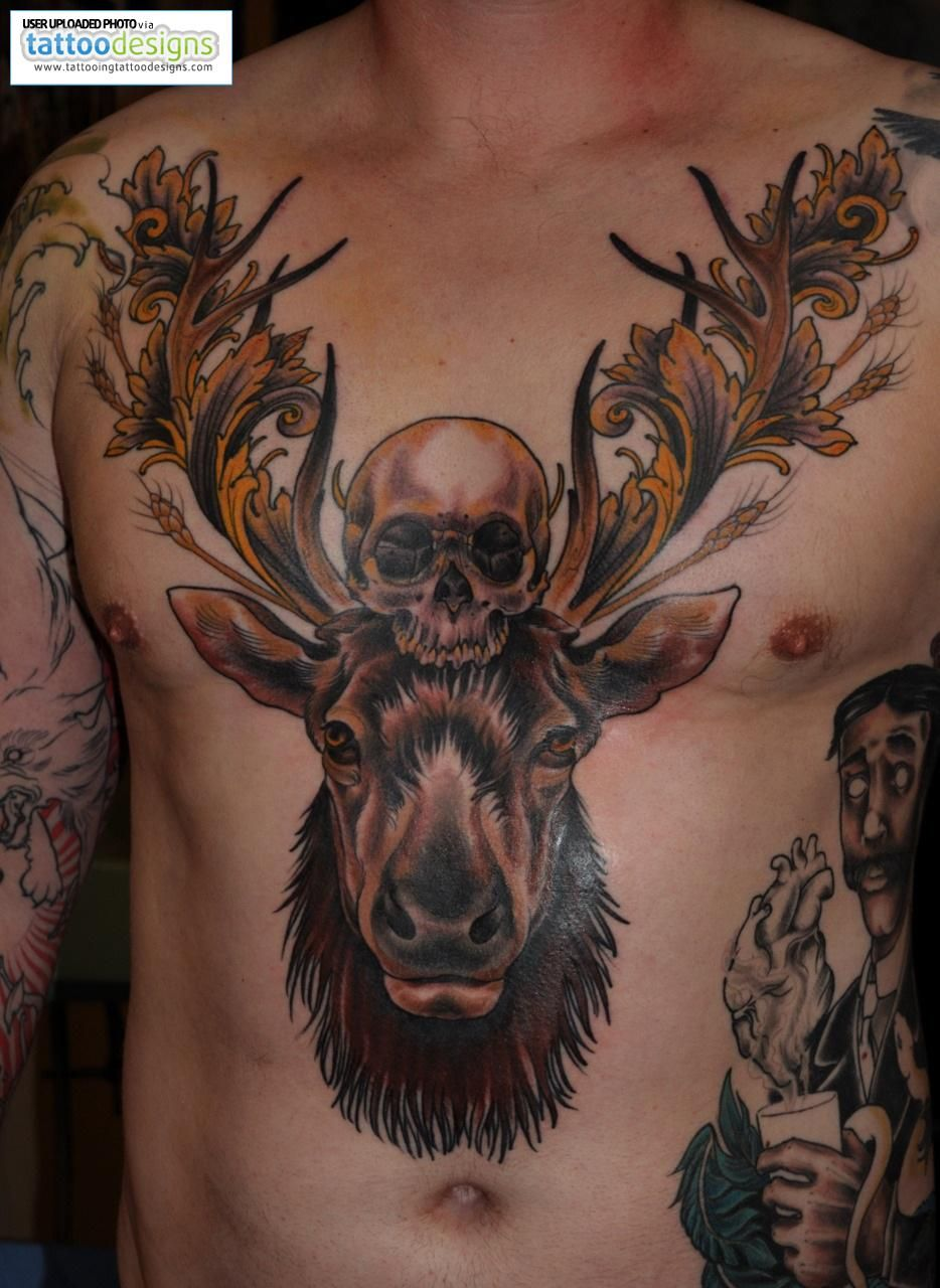 higher resolution amazing deer skull tattoos its all about the tattoo pinterest deer skull. Black Bedroom Furniture Sets. Home Design Ideas