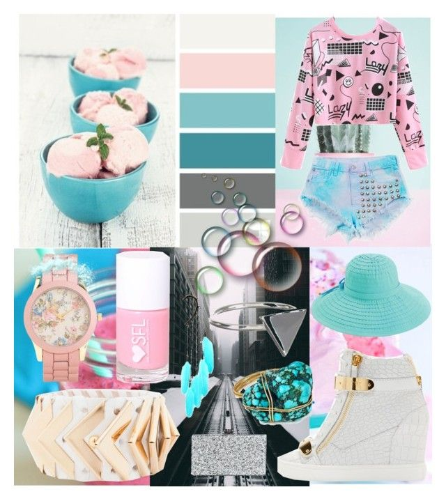""":-D"" by littlesmileyperlboot ❤ liked on Polyvore featuring PINK ANGEL, Seed Design, Vintage One, Aéropostale, Giuseppe Zanotti, Balmain, San Diego Hat Co., Edie Parker, Anni Jürgenson and Ichu"