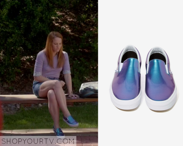 Switched at Birth: Season 4 Episode 11 Daphne's Metallic Slip On Shoes