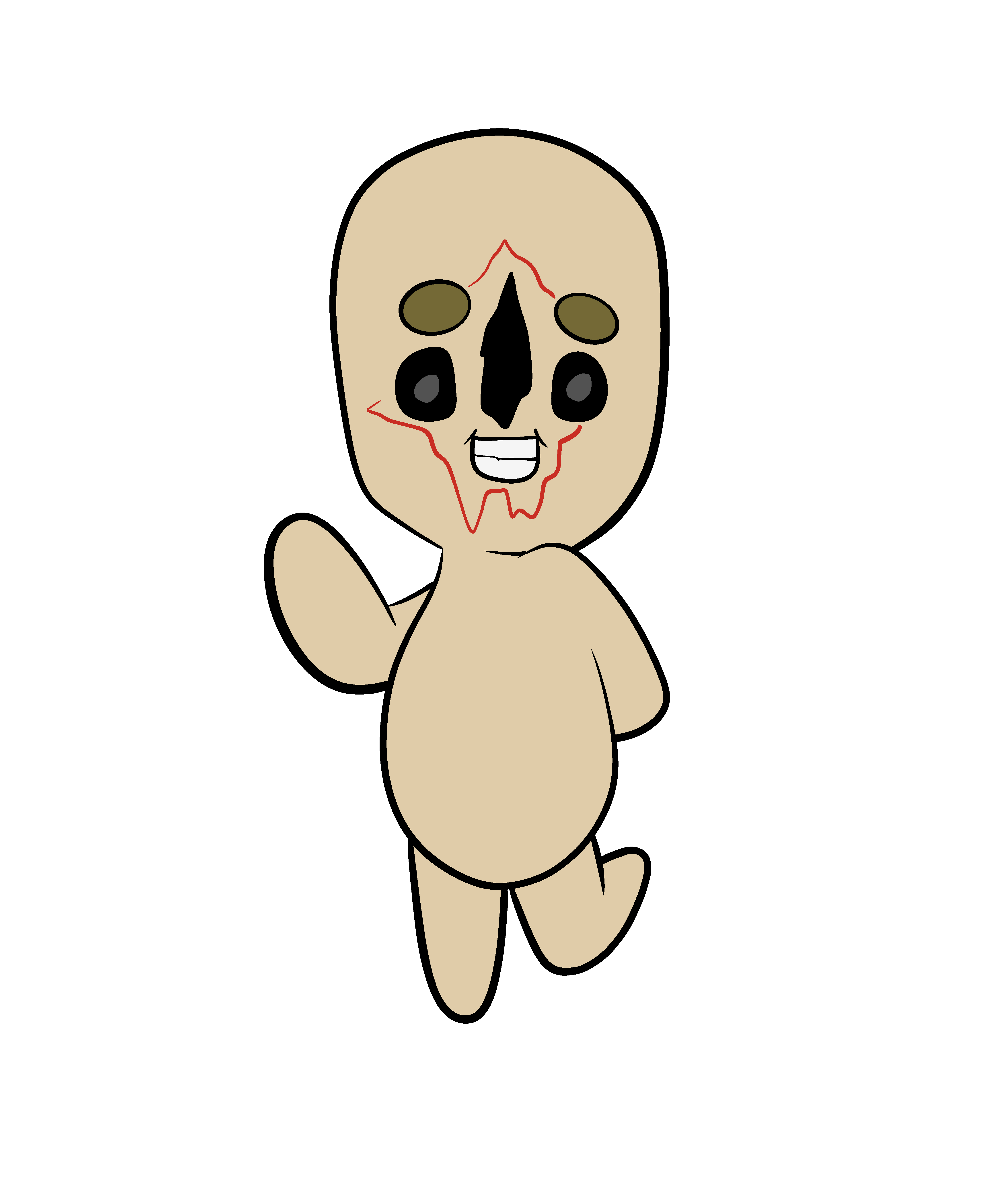 Scp 173 Secure Contain Protect Monster Cute Peanut Scp Cute Drawings Scp 049