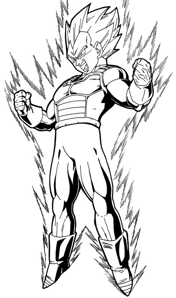 Dragon Ball Z Vegeta Super Saiyan Coloring Pages Vegeta Desenho