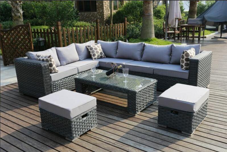 conservatory modular 8 seater rattan corner sofa set garden