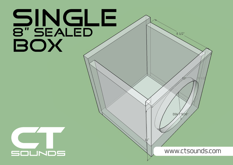 Single 8 Inch Sealed Subwoofer Box Design Subwoofer Box Design Box Design Diy Subwoofer Box