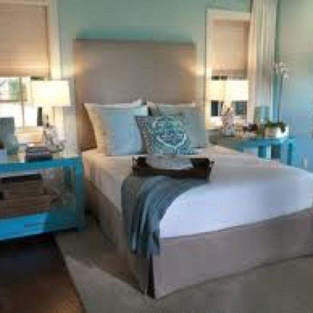 Baby blue and grey bedroom | Blue master bedroom, Bedroom ...