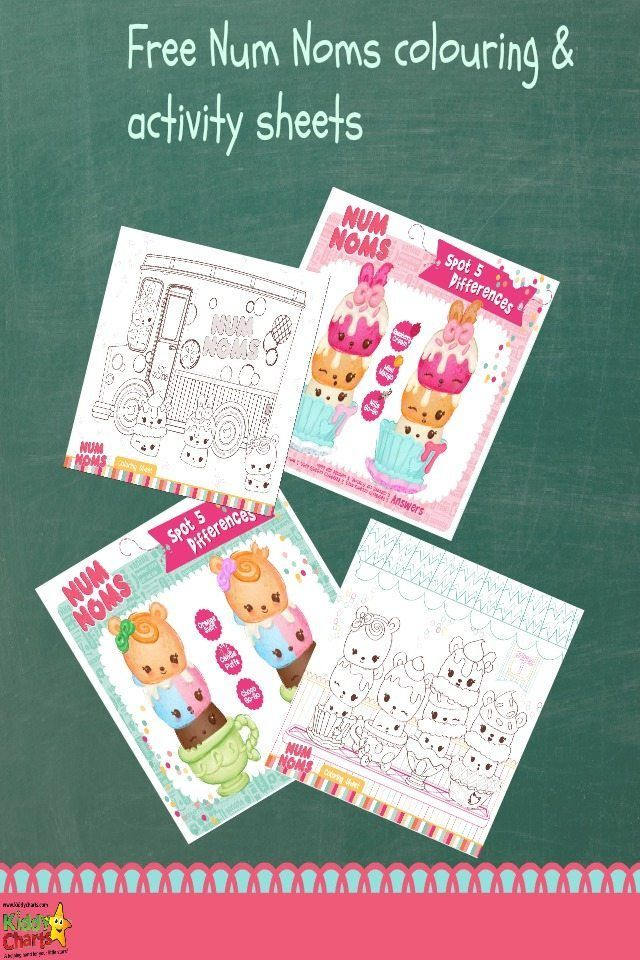 Free Num Noms Coloring Pages Activities For Kids Craft