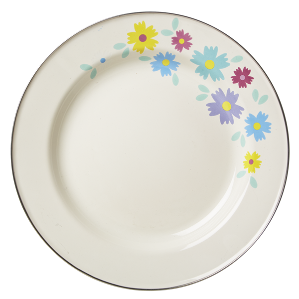 Enamel Dinner Plate with Flower Print  sc 1 st  Pinterest & Enamel Dinner Plate with Flower Print | dishes I love | Pinterest ...