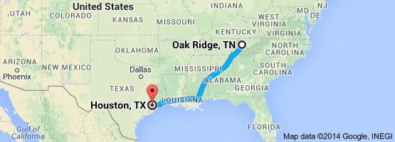 From: Oak Ridge, TN To: Houston, TX