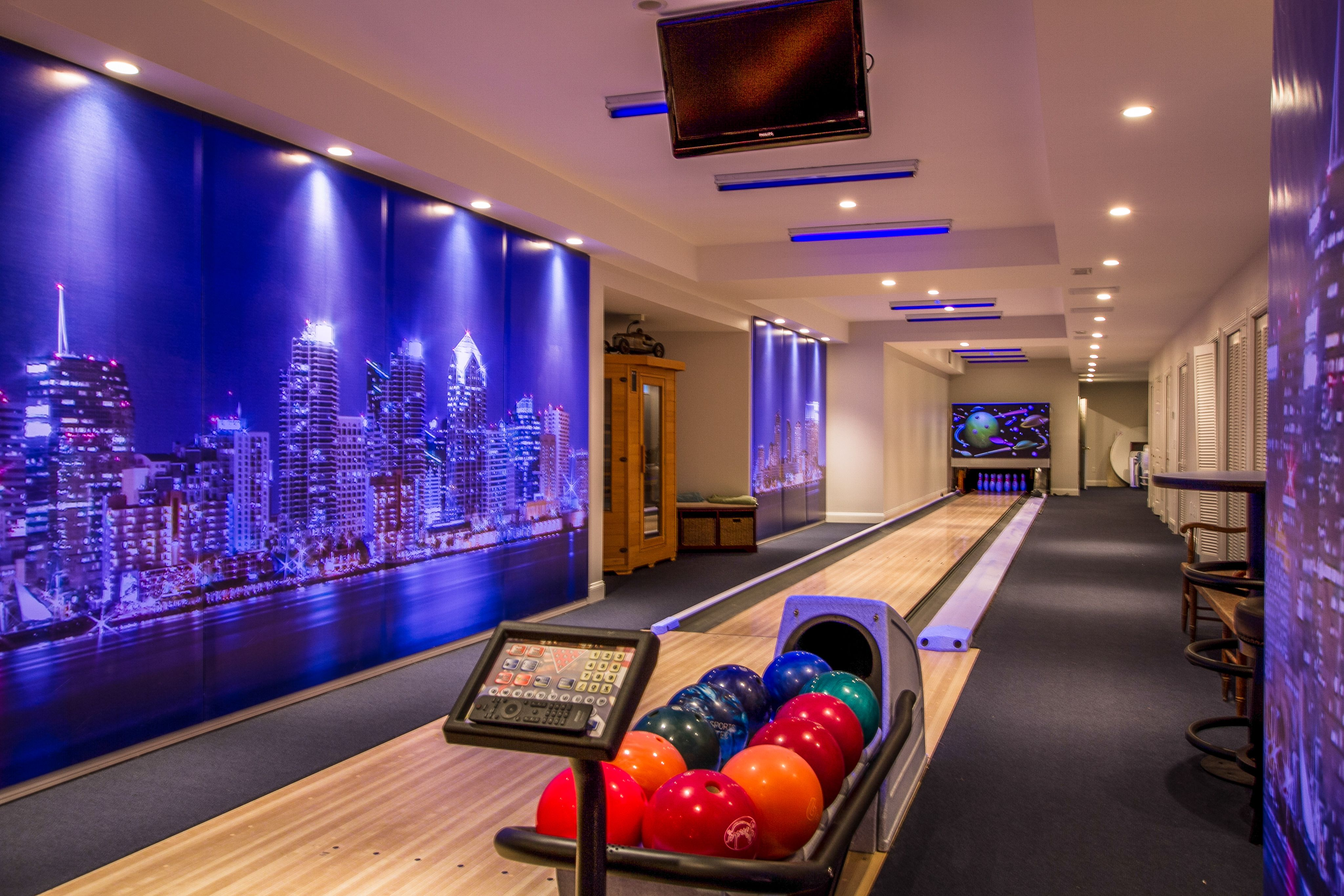 What This house has a basement bowling alley Check out more homes