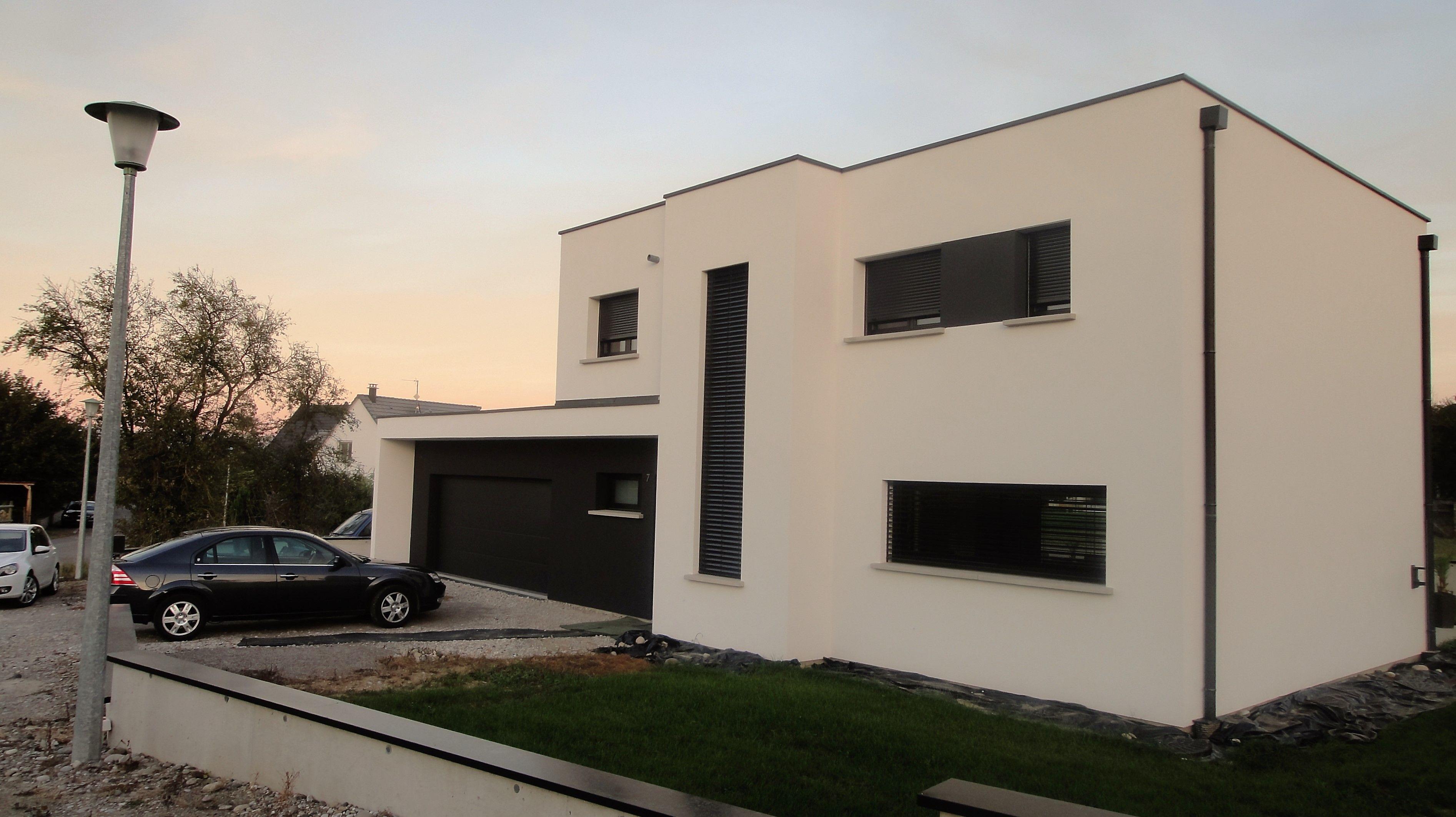 Pingl par nexthome cr ation sur r alisation maison toit plat magstatt 68 maison toit plat for Realisation toit plat