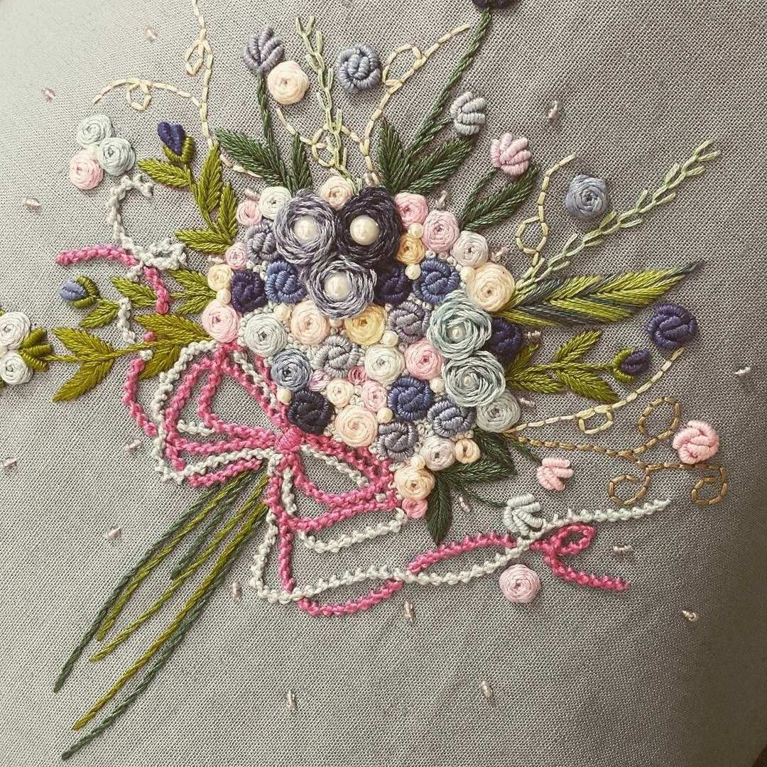 프랑스자수 embroidary points de couture pinterest embroidery