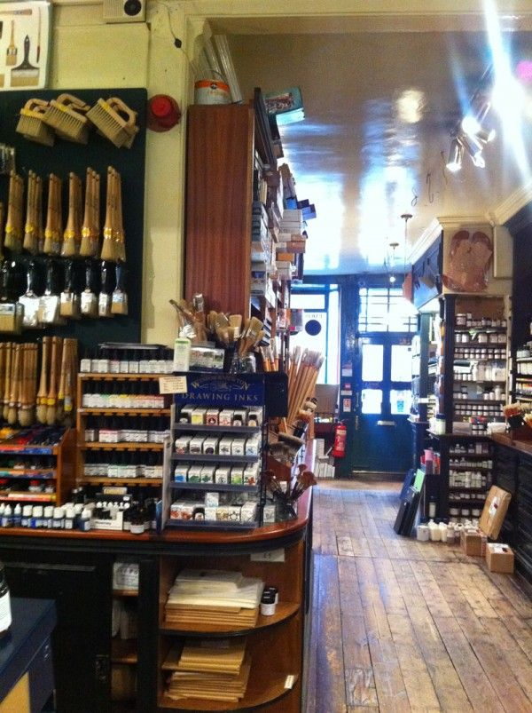 The art supplies tour of london leigh reyes my life as for Retail interior designers in london