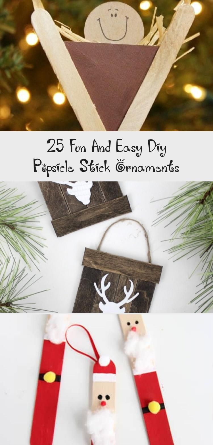 25 Fun And Easy Diy Popsicle Stick Ornaments #popciclesticks