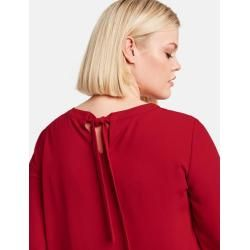 Photo of Longbluse mit Plisséefalten Rot Gerry Weber