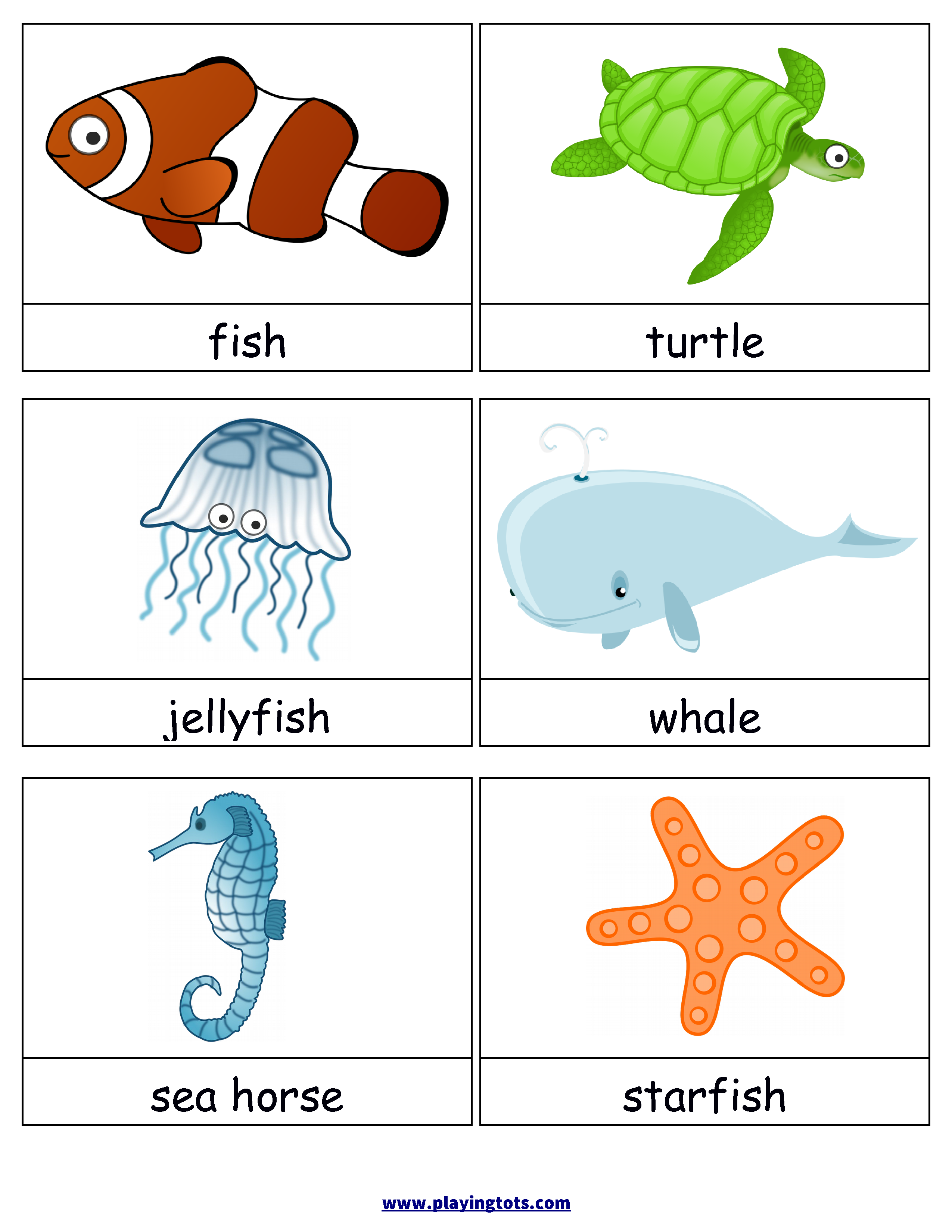 Free Printable Animals Flash Cards