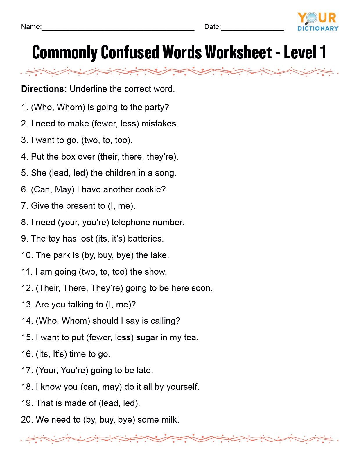 Grammar Worksheets 8th Grade In