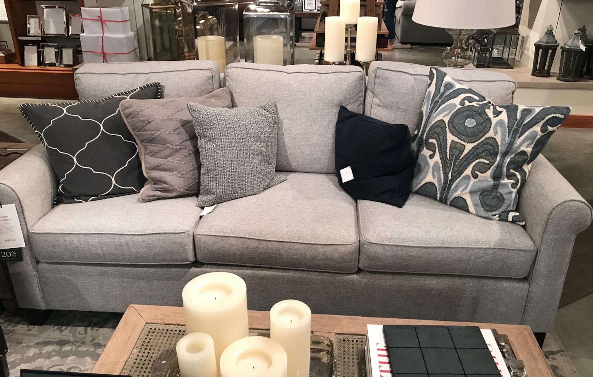 Best Comfy Gray Sofa From Pottery Barn Gray Sofa Furniture Sofa 400 x 300