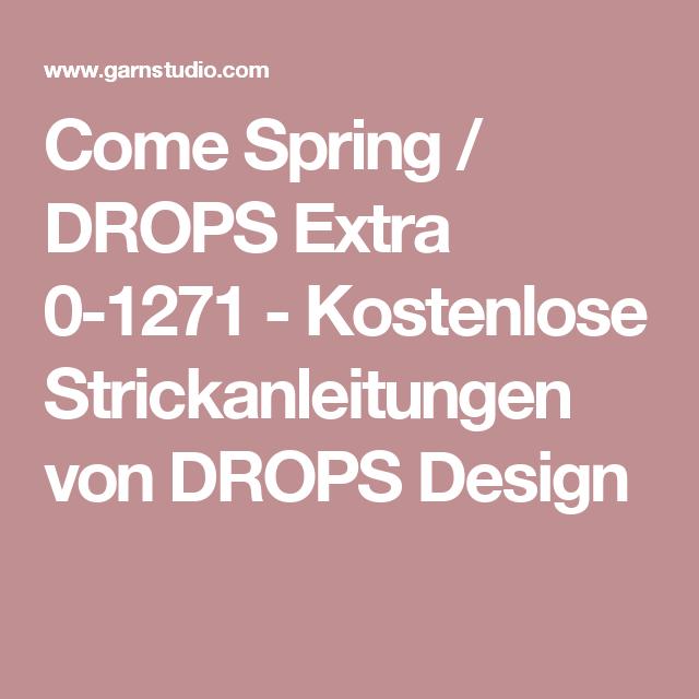 Come Spring / DROPS Extra 0-1271 - Kostenlose Strickanleitungen von DROPS Design