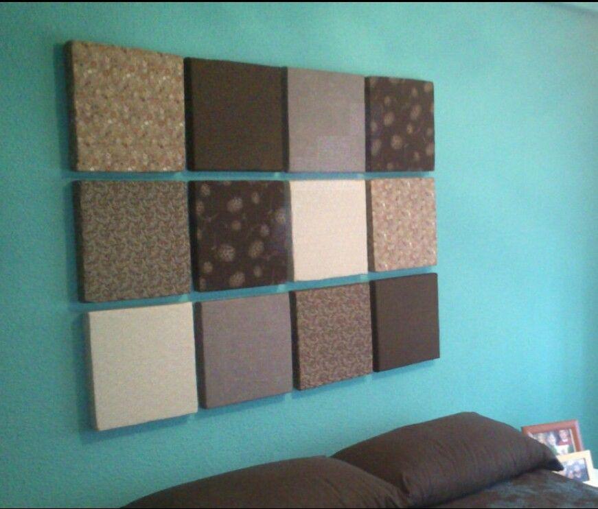 bedroom ceiling ideas pinterest - Cabecera de unicel y tela Crea Pinterest