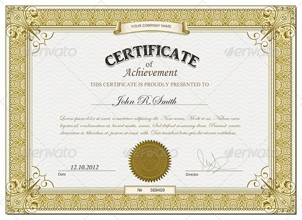 Gold Retro Certificate Template Vector EPS Download here
