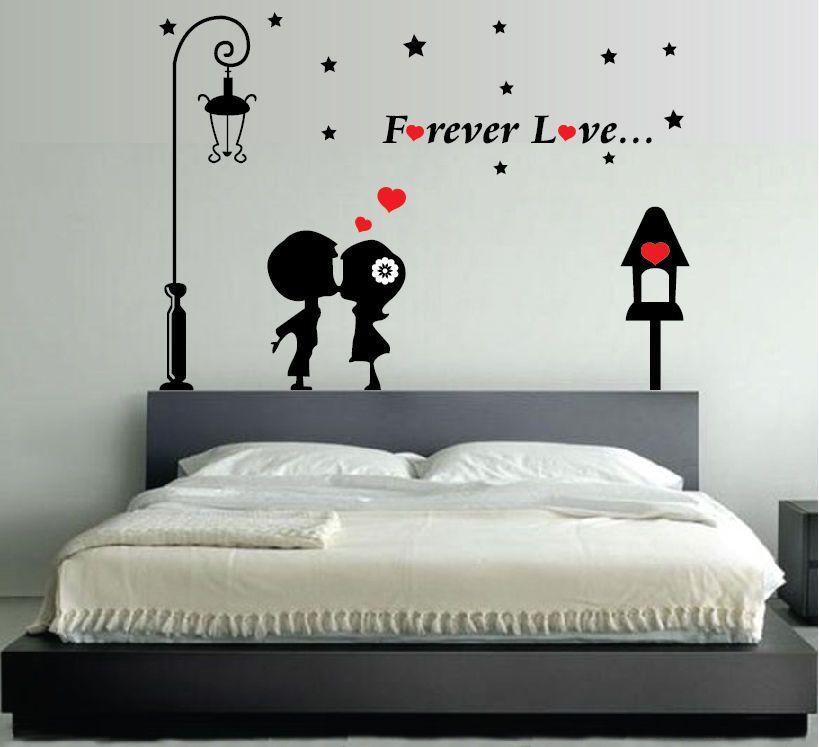 Dettagli su WALL STICKERS ADESIVI MURALI Forever Love ...