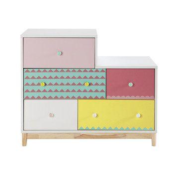 Kinderkommode Aus Holz B 100 Cm Bunt Kinderzimmer Pinterest
