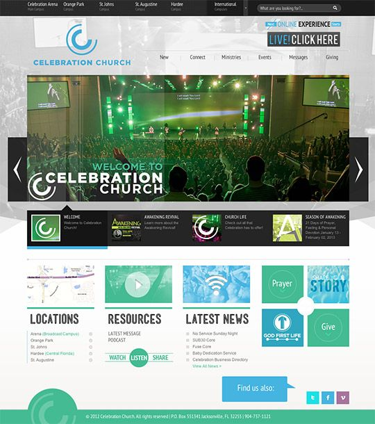 40 best church websites of 2013 | Design | Pinterest | Churches ...