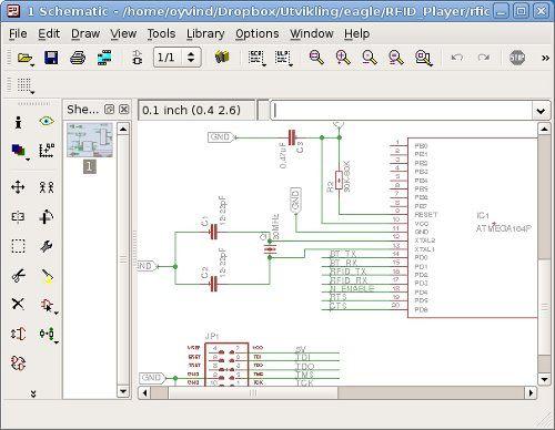 Screenshot Of Eagle PCB Design Software