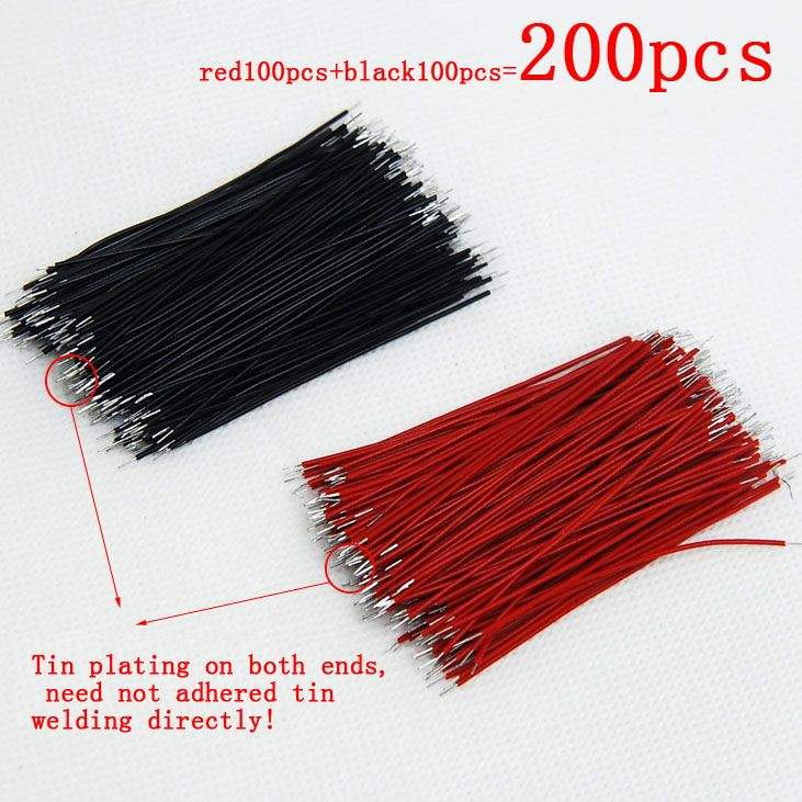 200pcs Pcb Solder Cable 6cm Fly Jumper Wire Cable Tin Conductor Wires Color Choose Affiliate Color Conductors Lights