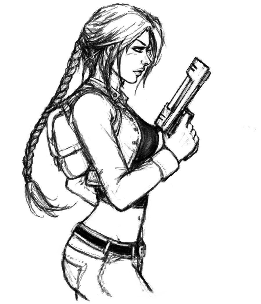 Tomb Raider Lara Croft #adventure #lady #croft drawing
