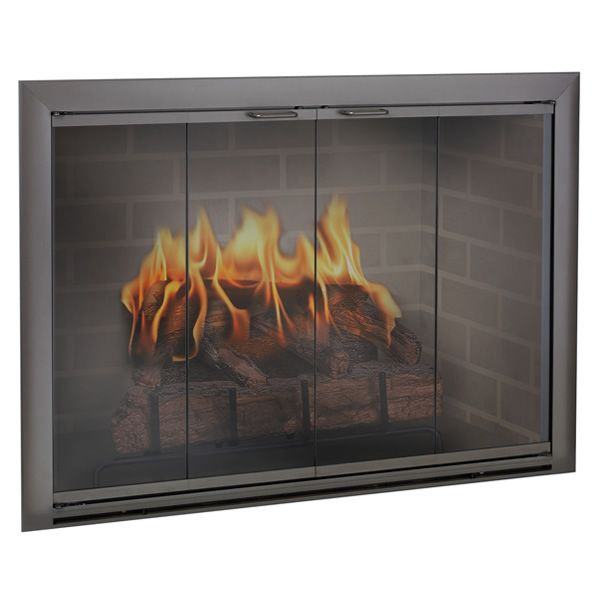 Brookfield Masonry Fireplace Glass Door Fireplace Doors Glass