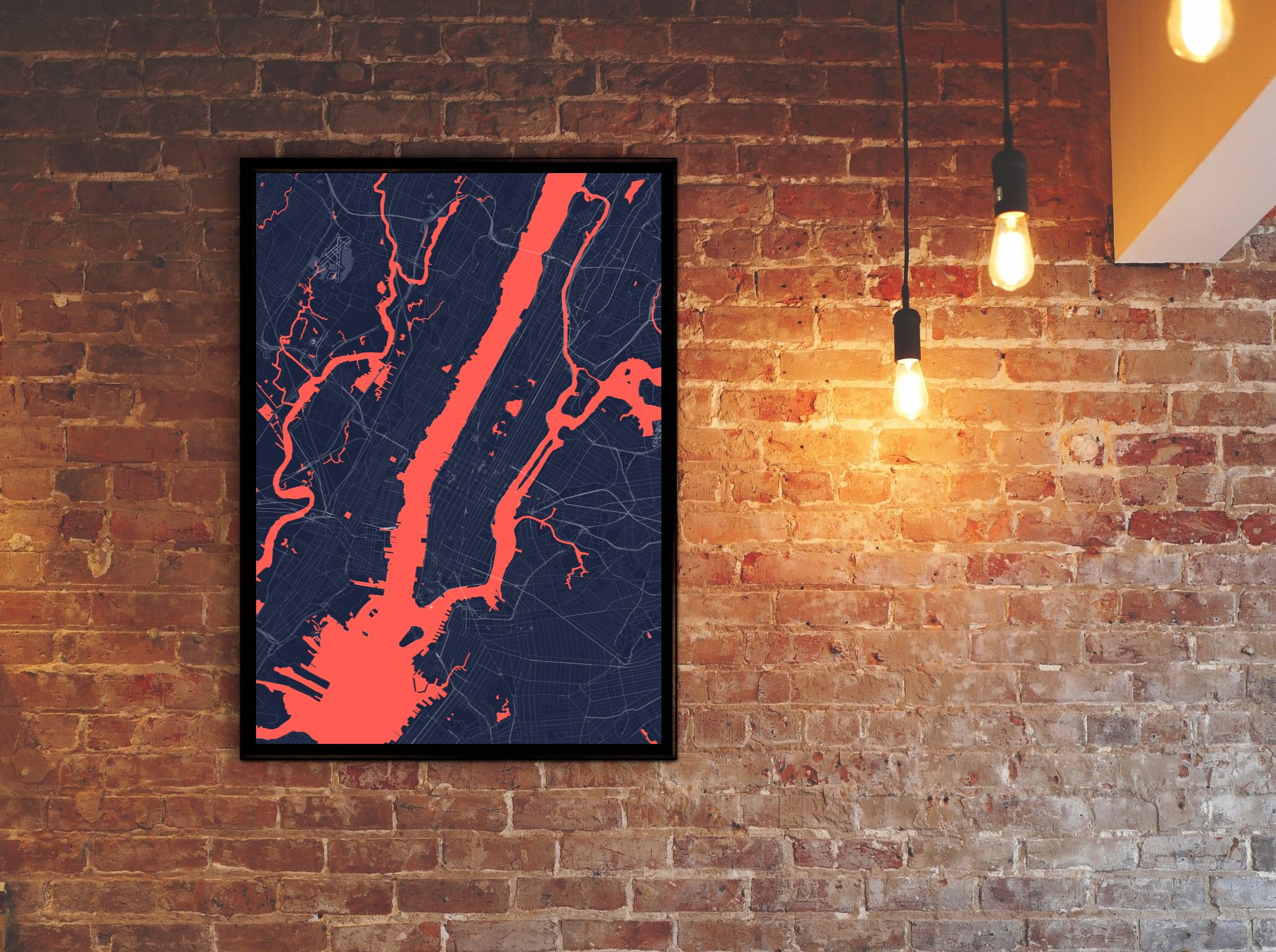 New York Outbreak Map | #print #poster #map #outbreak #zombie #newyork #art #decor #home